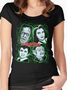 munsters portrait Women's Fitted Scoop T-Shirt