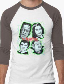munsters portrait Men's Baseball ¾ T-Shirt