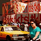 New York Yellow Cabs - TKTS by Martine Carlsen