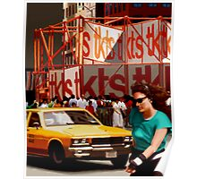 New York Yellow Cabs - TKTS Poster