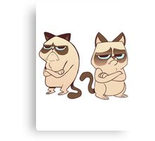 Grumpy Cats Canvas Print