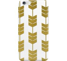 White and Gold Gilded Arrow Tails iPhone Case/Skin