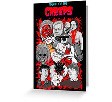 night of the creeps collage Greeting Card