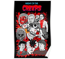 night of the creeps collage Poster