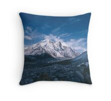 Bhagirathi Parbat from the Gangotri Glacier Throw Pillow