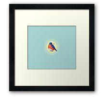 Sweet Bluebird in Blue Framed Print