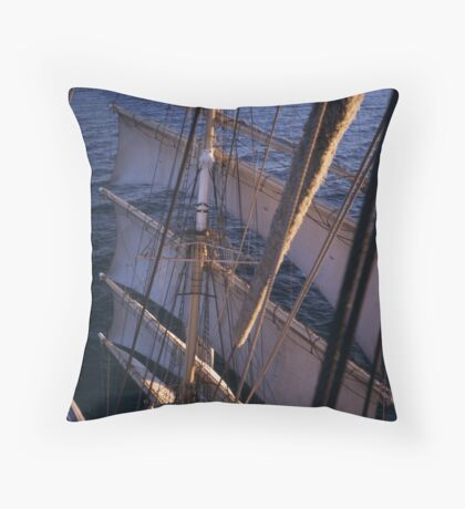 Sedov in the Baltic Sea Throw Pillow