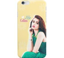 Lily Collins iPhone Case/Skin