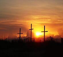 Three Crosses at Daybreak by Daphne