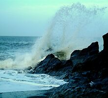 Stormy seas in Ilfracombe North Devon  by Pete Gallagher