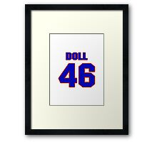 National football player Don Doll jersey 46 Framed Print