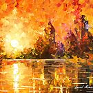 Castle By The River — Buy Now Link - www.etsy.com/listing/214734216 by Leonid  Afremov