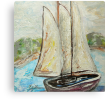 On a Cloudy Day - Impressionist View Canvas Print