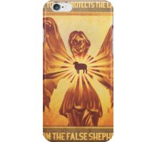 BioShock Infinite – The Tower Protects the Lamb from the False Shepherd Poster iPhone Case/Skin
