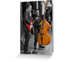 the sound of saturday skiffle Greeting Card