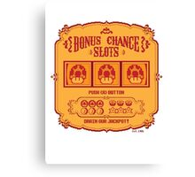 Bonus Chance Slots Canvas Print