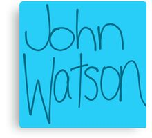 Dr. John H. Watson Canvas Print