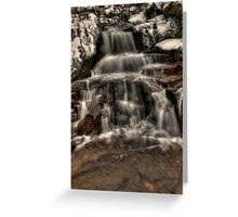 Icy Falls Greeting Card