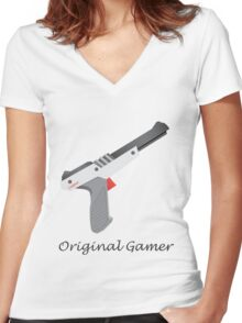 Original Gamer Women's Fitted V-Neck T-Shirt