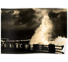Storm At Arbroath Poster