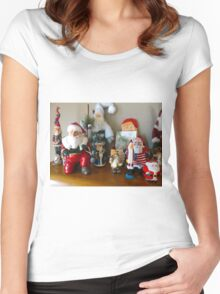 Ho Ho Ho, two Women's Fitted Scoop T-Shirt