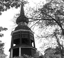 Old wooden tower, Stockholm by Maggie Hegarty
