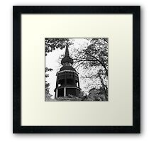 Old wooden tower, Stockholm Framed Print