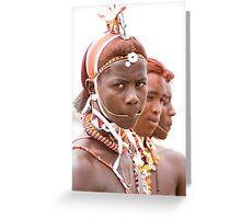 Samburu boys Greeting Card