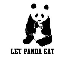 LET PANDA EAT Photographic Print