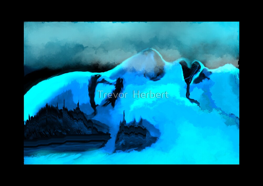 Avalanche on she mountain by Trevor  Herbert