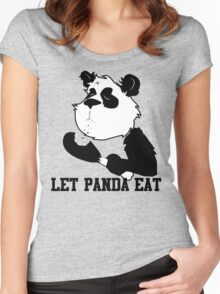 LET PANDA EAT (2) Women's Fitted Scoop T-Shirt