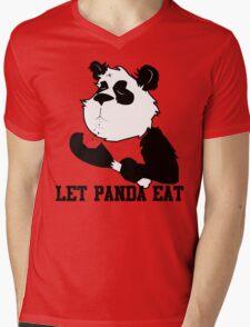 LET PANDA EAT (2) Mens V-Neck T-Shirt