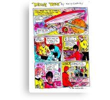 """Drunk Trek"" Canvas Print"