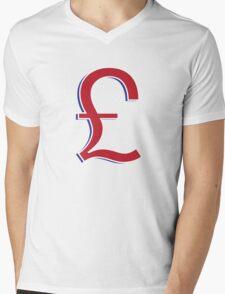 UK Pound Mens V-Neck T-Shirt