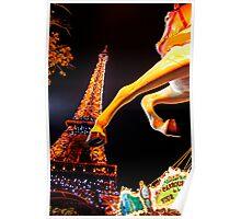 Eiffel Carousel Poster