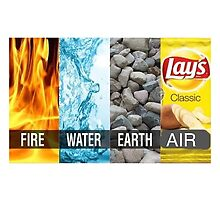 The four elements. by theguyontheleft