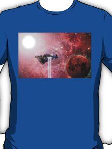 Floating Castle Scene in Space T-Shirt