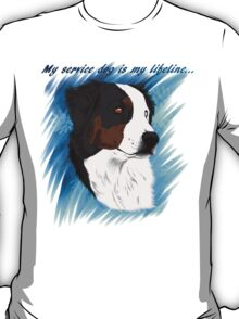 DUNCAN - My Service Dog is My Lifeline T-Shirt