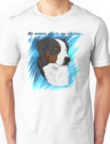 DUNCAN - My Service Dog is My Lifeline Unisex T-Shirt