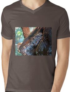 Sleeping Gator Mens V-Neck T-Shirt