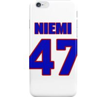 National football player Laurie Niemi jersey 47 iPhone Case/Skin