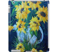 Sunflowers in a Country Pot iPad Case/Skin