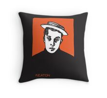 1920s Buster Keaton Portrait Throw Pillow