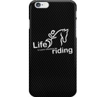 Riding v Life - Sticker iPhone Case/Skin