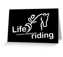 Riding v Life - Sticker Greeting Card