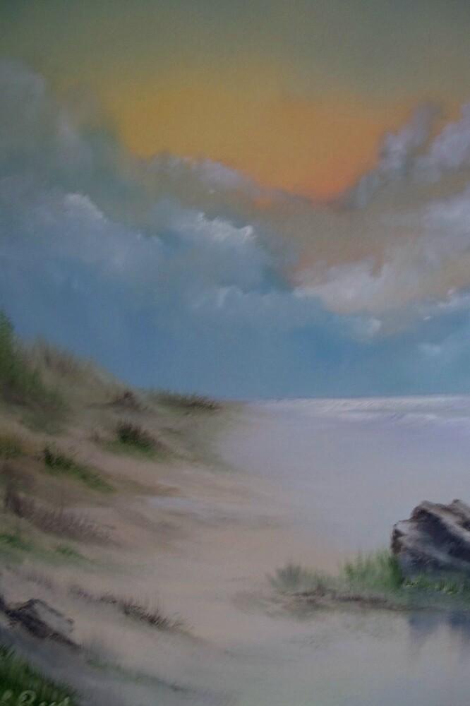 Empty beach by bluecolt
