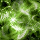Green stars background by bnilesh