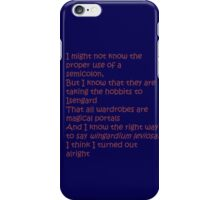 Fiction is Learning iPhone Case/Skin