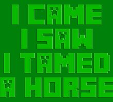 I Came I Saw I Tamed A Horse by GreenGamer