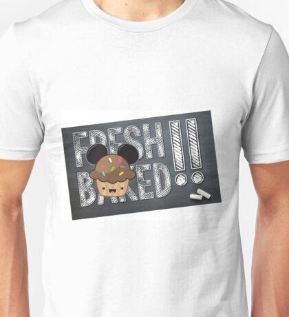 Fresh Baked Muffin on Chalk Unisex T-Shirt